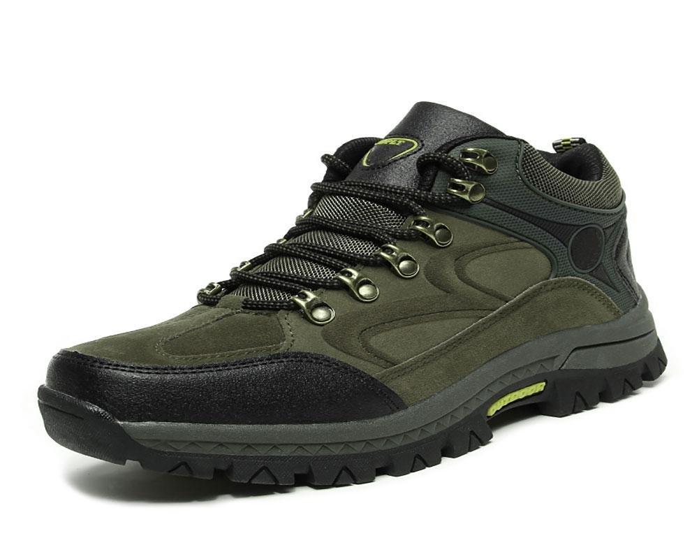 NANYDX Männer Herbst und Winter Im Freien Übung Schuhe Warm halten Plus Kaschmir Rutschfest Bergsteigen Schuhe