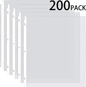 Ktrio Sheet Protectors 8.5 x 11 Inches Clear Page Protectors for 3 Ring Binder, Plastic Sleeves for Binders, Top Loading Paper Protector Acid Free Letter Size Box of 200