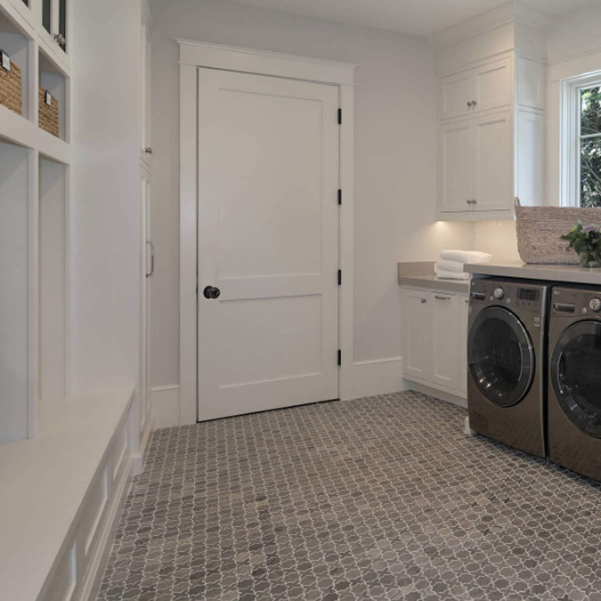 8 Pack Probrico Interior Round Privacy Keyless Door Knobs Door Lock Lockset Without Key Doorknobs Oil Rubbed Bronze for Bedroom and Bathroom-Door Knob 607 by Probrico (Image #2)