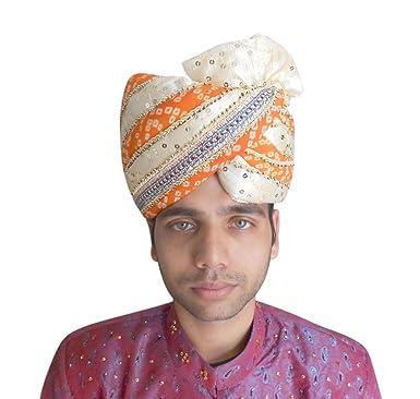 Medium PAGRI Indian Wedding Groom SAFA Men HAT Turban Multi Color Royal PAG 2e898f8f5