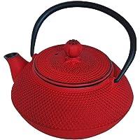 taşev t2765 Linden sümbül-cast demir çaydanlık 800 ml, kırmızı