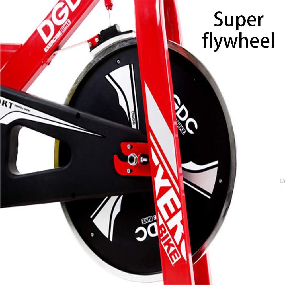 Keumer Bicicleta De Ejercicio,Fitness Interior Ciclismo Bicicleta Estacionaria,Ajustable Profesional Ejercicio Entrenamiento Deporte,Rojo