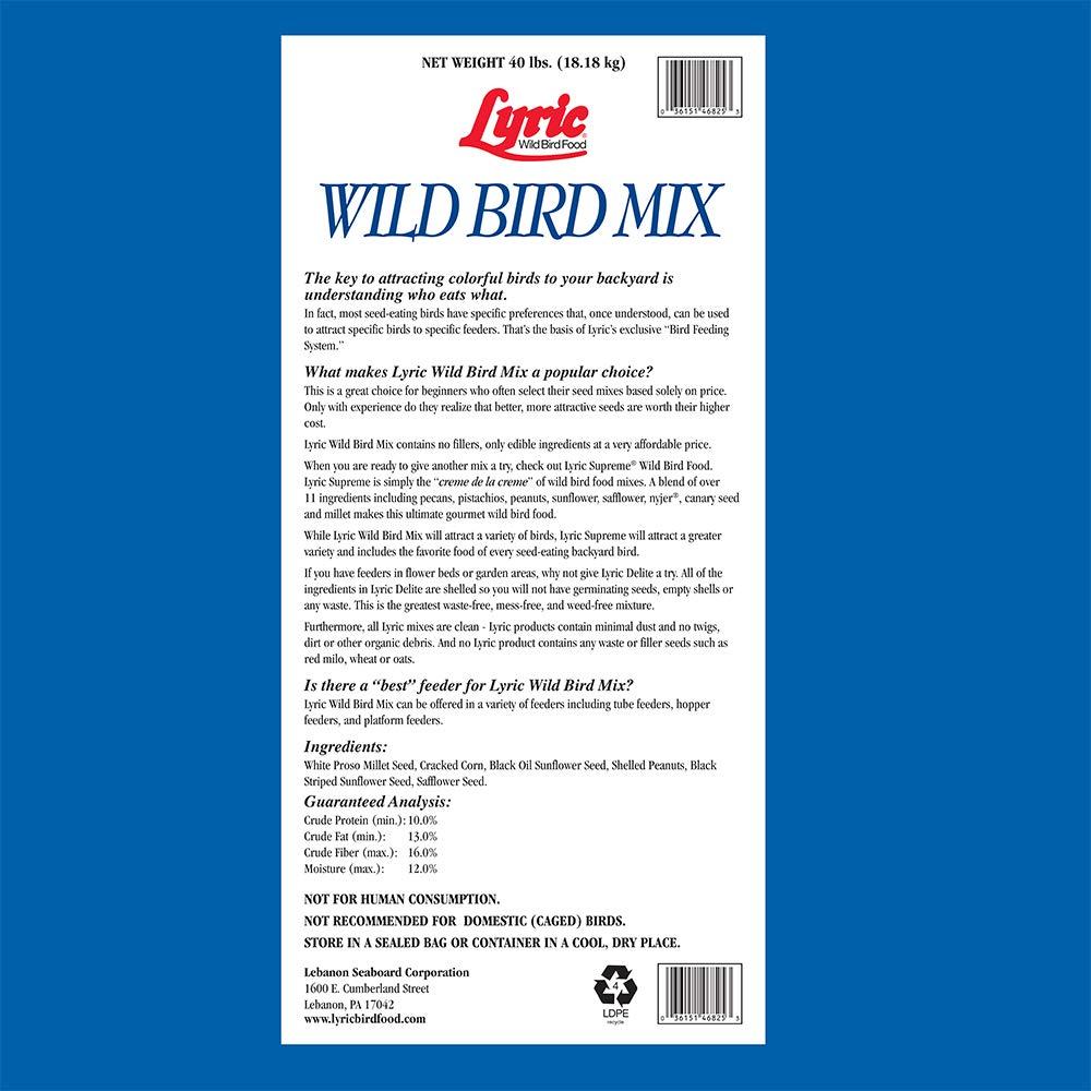 Lyric 2647443 Wild Bird Mix - 40 lb.