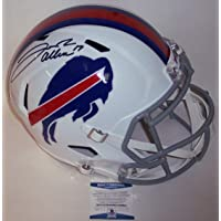 $479 » Josh Allen Autographed Hand Signed Buffalo Bills Full Size Speed Replica Helmet - BAS Beckett Authentication