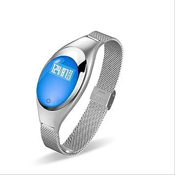 LYL Store-smartwatch Metal Correa de Acero Presión Arterial ...