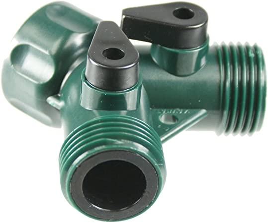 Faucet Y connector with double shut-off