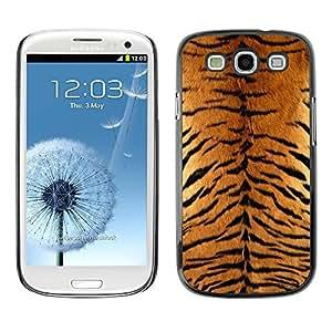 Be Good Phone Accessory // Dura Cáscara cubierta Protectora Caso Carcasa Funda de Protección para Samsung Galaxy S3 I9300 // Tiger Furry Pattern Animal Wild Big Cat