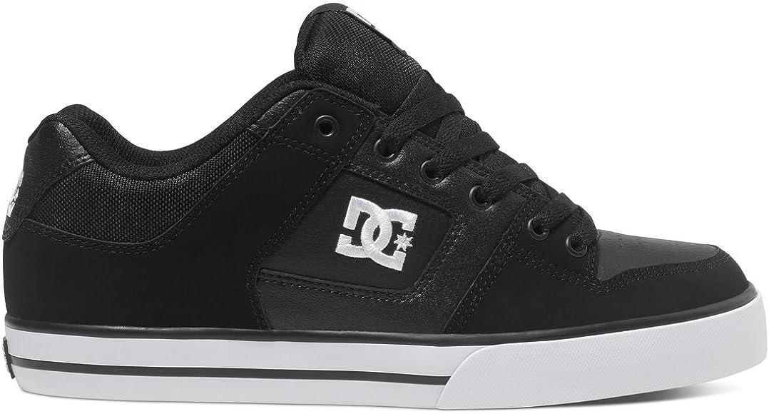 DC Men's Pure Skate Shoe, black/black