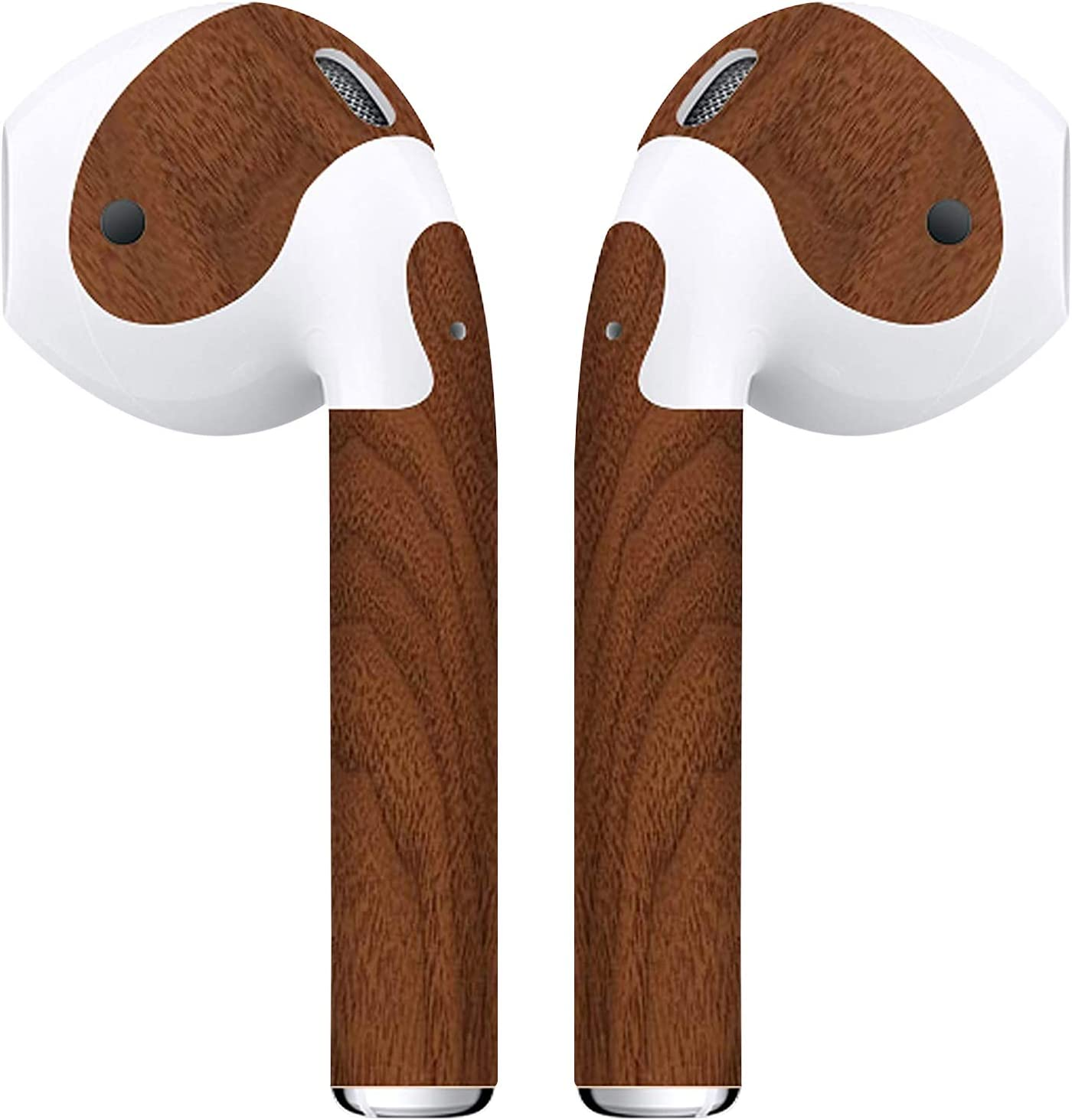 APSkins 2 Piece Printed Skin Wraps Compatible with Apple Airpods – Earpods Stickers & Vinyl Protective Decal for Protection & Customization - Apple Airpods Accessories (Walnut Wood)