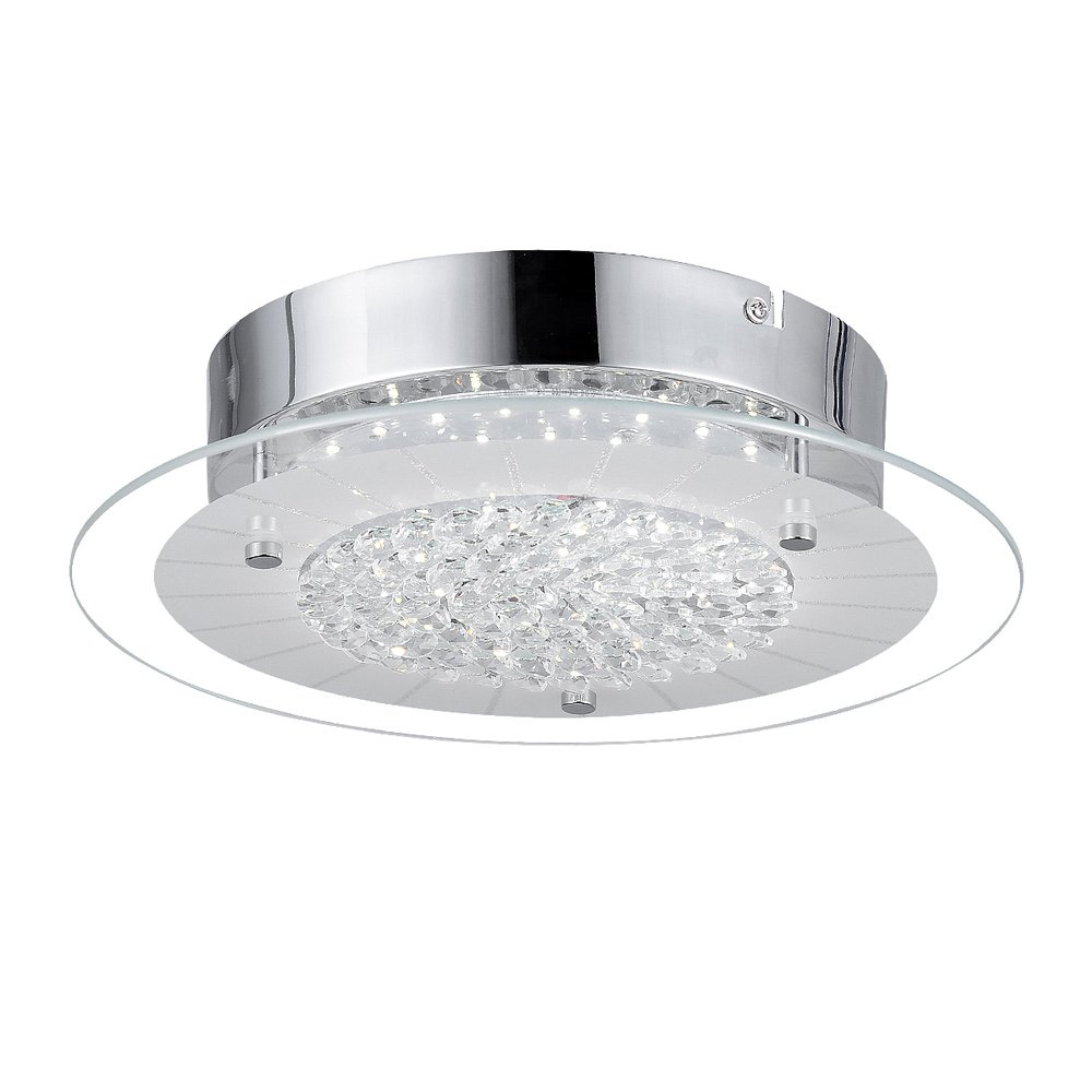 finest selection d6b9f 271cf AUDIAN Dimmable LED Ceiling Lamp Crystal Light Fixtures Ceiling Brightness  Flush Mount LED Lights Close to Ceiling Lights Round Chandelier 4000K for  ...