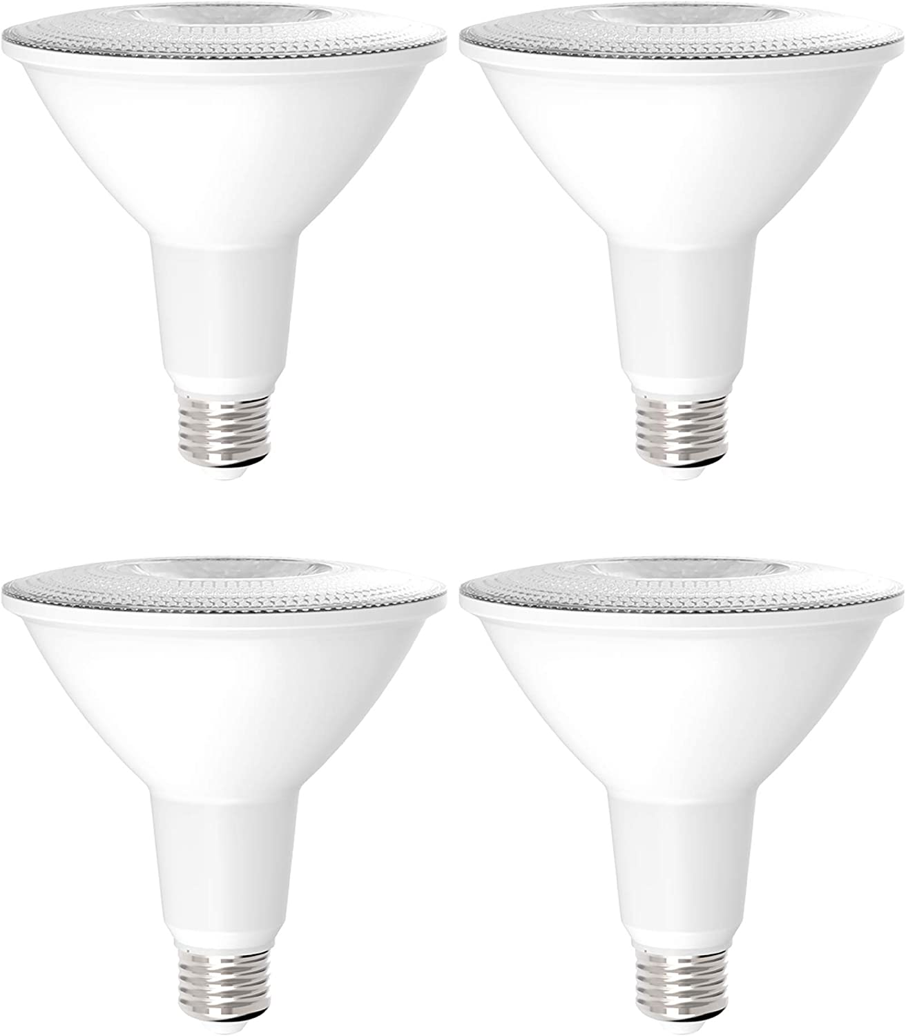 Sunco Lighting 4 Pack PAR38 LED Bulb, Dusk-to-Dawn + Radar Motion, 13W=100W, 4000K Cool White, 1050 LM, Indoor/Outdoor, Photocell + Motion Sensor, Security Flood Light - UL