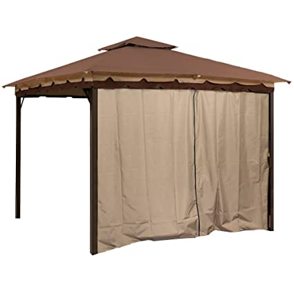 Amazon Com Sunjoy L Gz436pfb Gazebo Privacy Panel Side Wall Fits