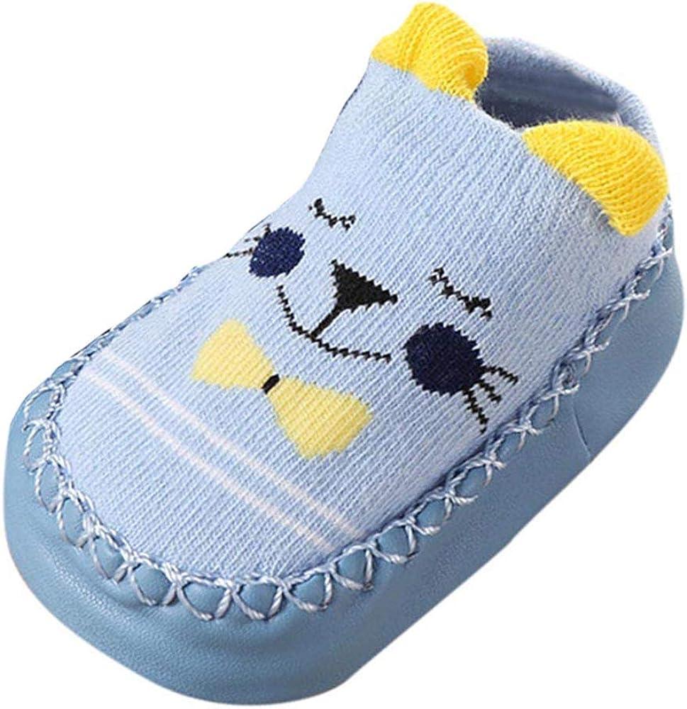 YWLINK Neugeborene Baby-M/äDchen-Karikatur-Ohren Bequem Kleinkind Schuhe Bodensocken Anti-Rutsch Baby Schritt Schuhe Socken
