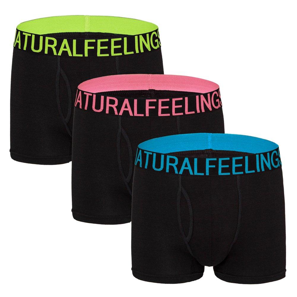 Boxer Shorts Mens Underwear of 5 Cotton Long Leg Boxers Trunks Underwear for Men