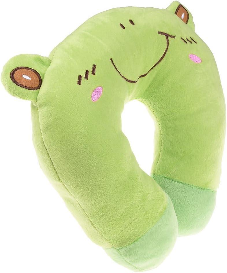 SuxiDi Cuscino morbido da viaggio per bambini ad adorabile cartone animato cuscino poggiacollo per auto aereo Frog