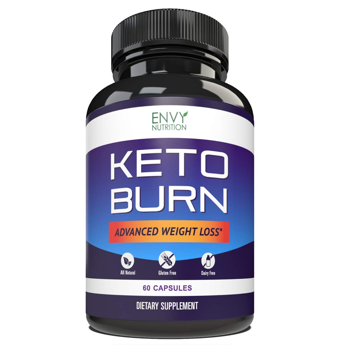 Keto Burn Diet Pills - Advanced Weight Loss for Men and Women - BHB Salts Support Fat Burning, Ketosis, Improved Energy and Enhanced Focus - 60 Count