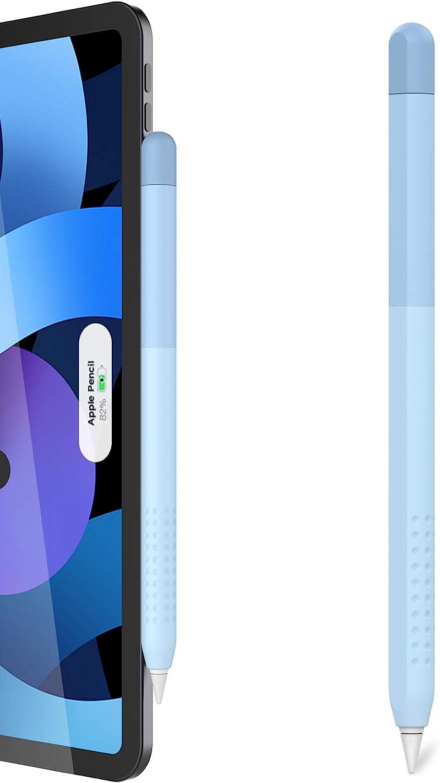 Delidigi Gradient Color iPencil Case Sleeve Silicone Cover Accessories Compatible with Apple Pencil 2nd Generation(Gradient Blue)