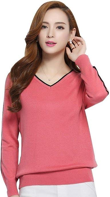 Mujer Camisas Elegantes Otoño Invierno V Cuello Camisa De Manga Larga Casual Pullover Tops Moda Retro Blusa Shirts: Amazon.es: Ropa y accesorios