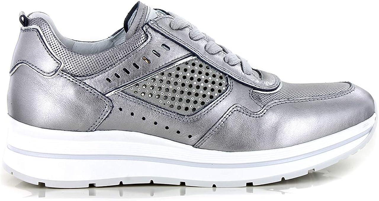 Nero Giardini 07542 Grigio Scarpe Donna Sneaker Pelle