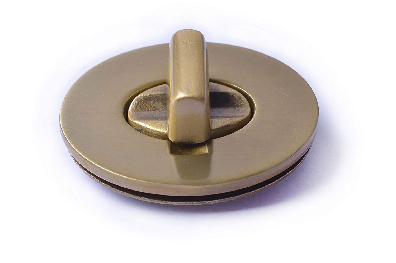 Brussed Brass, M Bobeey 2sets 30x23mm Small Oval Purses Locks Clutches Closures,Metal Oval Twist Locks,Small Purse Closure Turn Locks BBL4