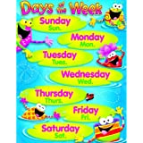 Days of the Week, Frog Design Classroom Learning Poster