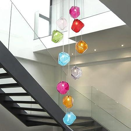 Amos Lámparas de Escalera Color Bola de Burbujas LED Sala de Estar Comedor Villa dúplex lámparas giratorias: Amazon.es: Hogar