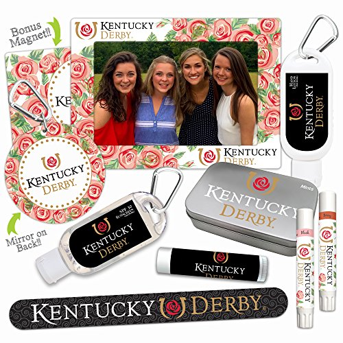 Kentucky Derby Gifts, Party Favors, Accessories—Platinum Variety Set Featuring 9 Unique Items ()