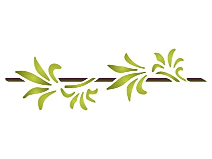 Hoja de palmera plantilla - reutilizable de pared plantillas para pintar - mejor calidad ideas para