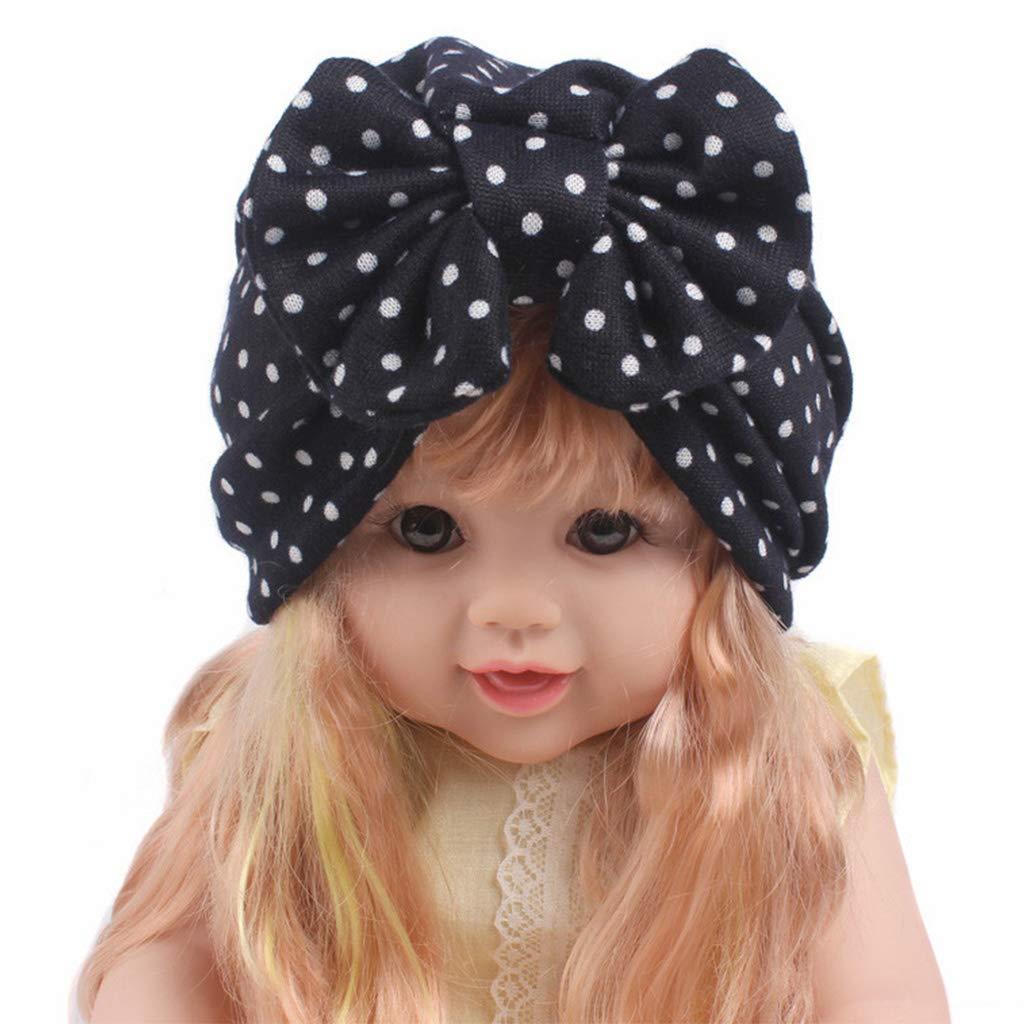 SLYlive Chapeau à Imprimé Floral à Pois, Ttricoté pour Bébé Fille ... 51024adcdea