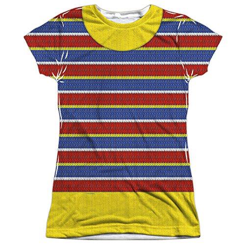 A&E Designs Juniors Ernie Costume Sublimation Shirt (Front & Back), Small ()