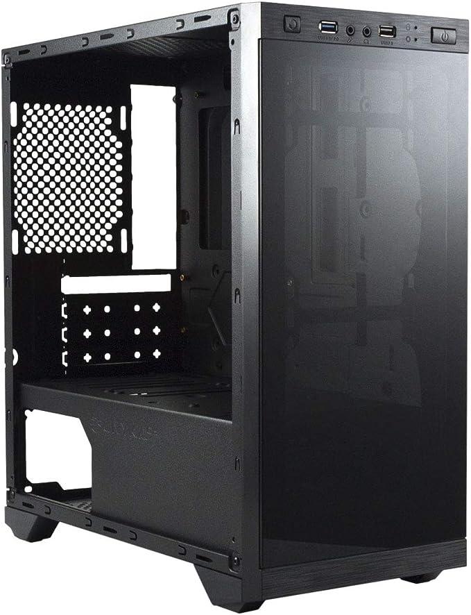 Unykach Armor C21, Unyka Armor C21 Black Caja Gaming Matx, 1, Negro