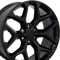 OE Wheels 20 Inch Fits Chevy Silverado Tahoe GMC Sierra Yukon Cadillac Escalade CV98 Satin Black 20x9 Rim Hollander 5668