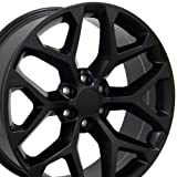22x9 Wheel Fits GM Trucks & SUVs - GMC Sierra Style Black Rim, Hollander 5668