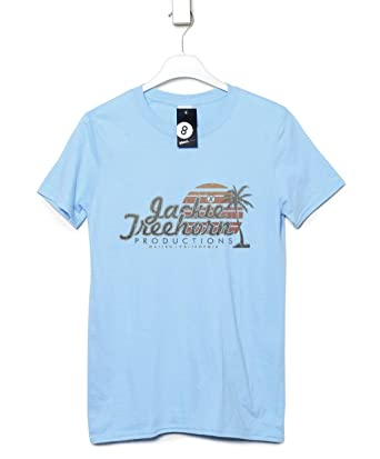 11df60ef53 Mens Inspired By The Big Lebowski T Shirt - Jackie Treehorn Productions -  Light blue -