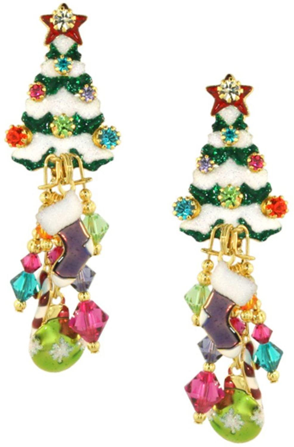 Lunch at The Ritz 2GO USA Christmas Tree Earrings Clips