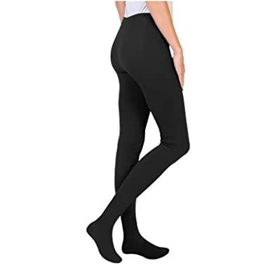 4e6385ebbb6b7 New Women Ladies 4.9 TOG Thermal Heat Tights with FEET Insulated Thick  Fleece HOT Extra Warm Winter Leggings S-2XL: Amazon.co.uk: Clothing