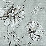 Summer's Night Spa Green Floral 75 x 72 inch Cotton Shower Curtain, Lined