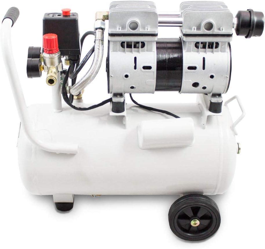 Bituxx 750W Silent Leisekompressor 24L Druckluftkompressor Kompressor Fl/üster Druckluft /Ölfrei 750 W ✓ Druck 7 Bar ✓ /Ölfrei ✓ Nur 60 dB