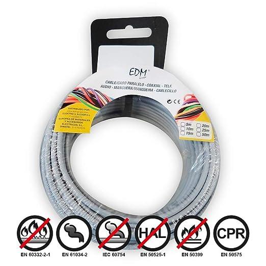 Carrete cablecillo flexible 2,5mm gris 10m libre-halogeno ...