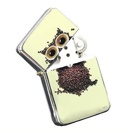 Amazon com : Coffee Owl Insomniac - Silver Chrome Pocket Lighter by