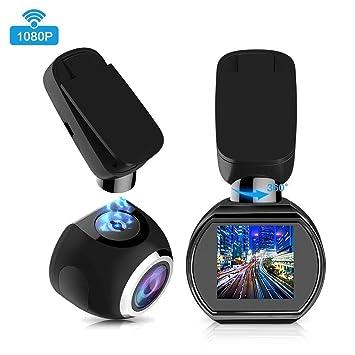 Wifi Dash Cam 1080P Full HD Car Salpicadero Cámara Mini Magnética Coche DVR Con G-