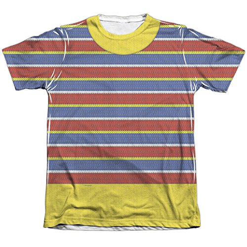 A&E Designs Ernie Costume Sublimation Tee Shirt (Front & Back), Small ()