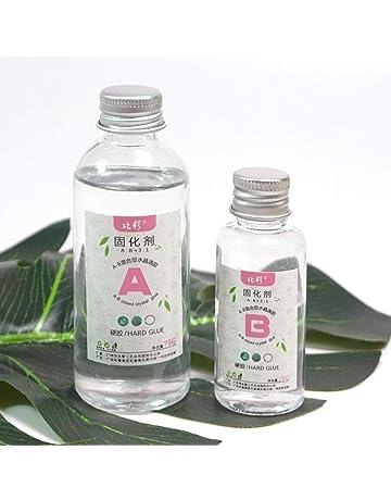 Xuniu 1 Set Resina Transparente Epoxi Adhesivo Alto 3: 1 Fabricación de Joyas con Resina