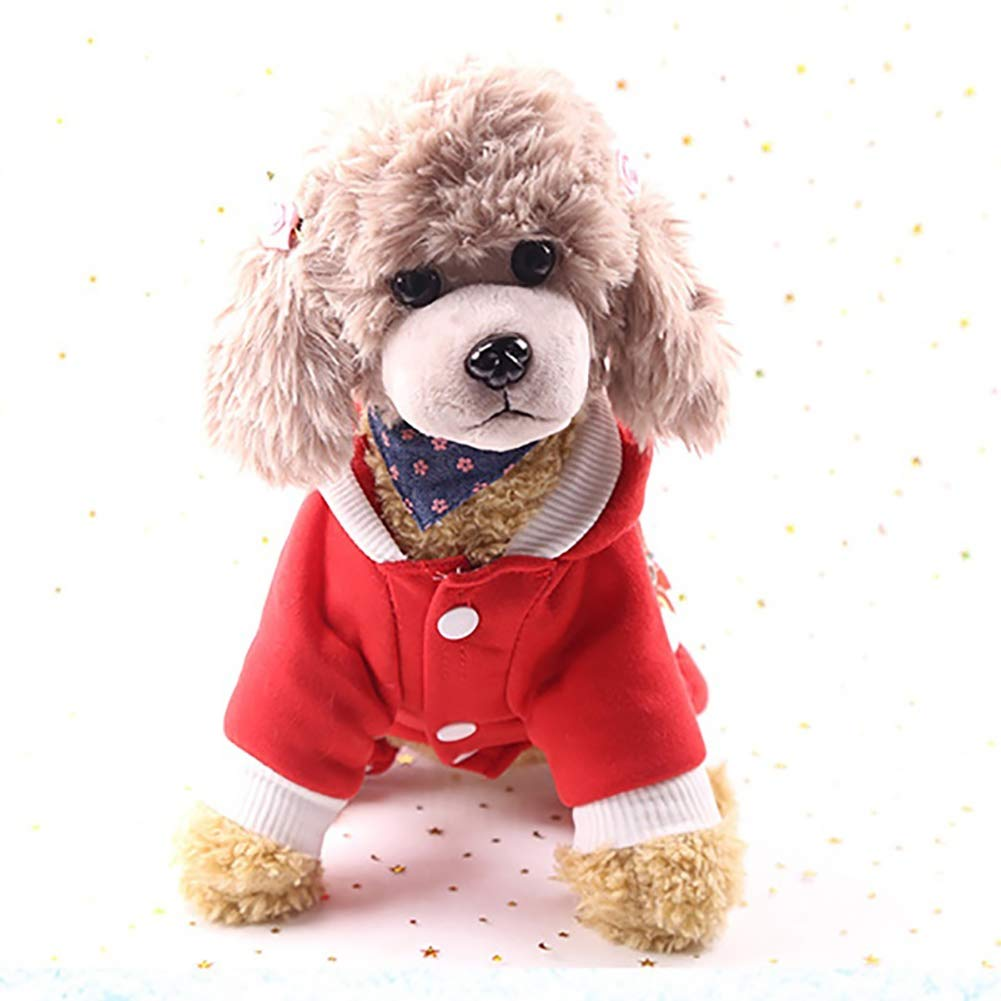 H2okp-009 Perro Traje de Navidad Ropa con Capucha Elk Mu/ñeco de Nieve C/álido Confort Productos para Mascotas L