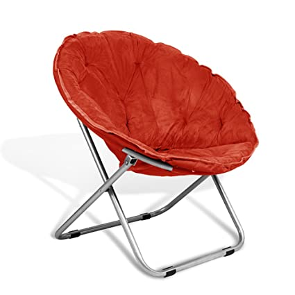 Bon Extra Comfort Folding Moon Chair Saucer With Suded Pad For Any Living Room,  Dorm Or