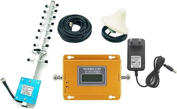 Lorenlli Ajuste CDMA 3G 4G 2100MHz LCD 3G Amplificador de repetidor de señal de teléfono móvil Amplificador con Antena de Alta Ganancia Extensor de ...