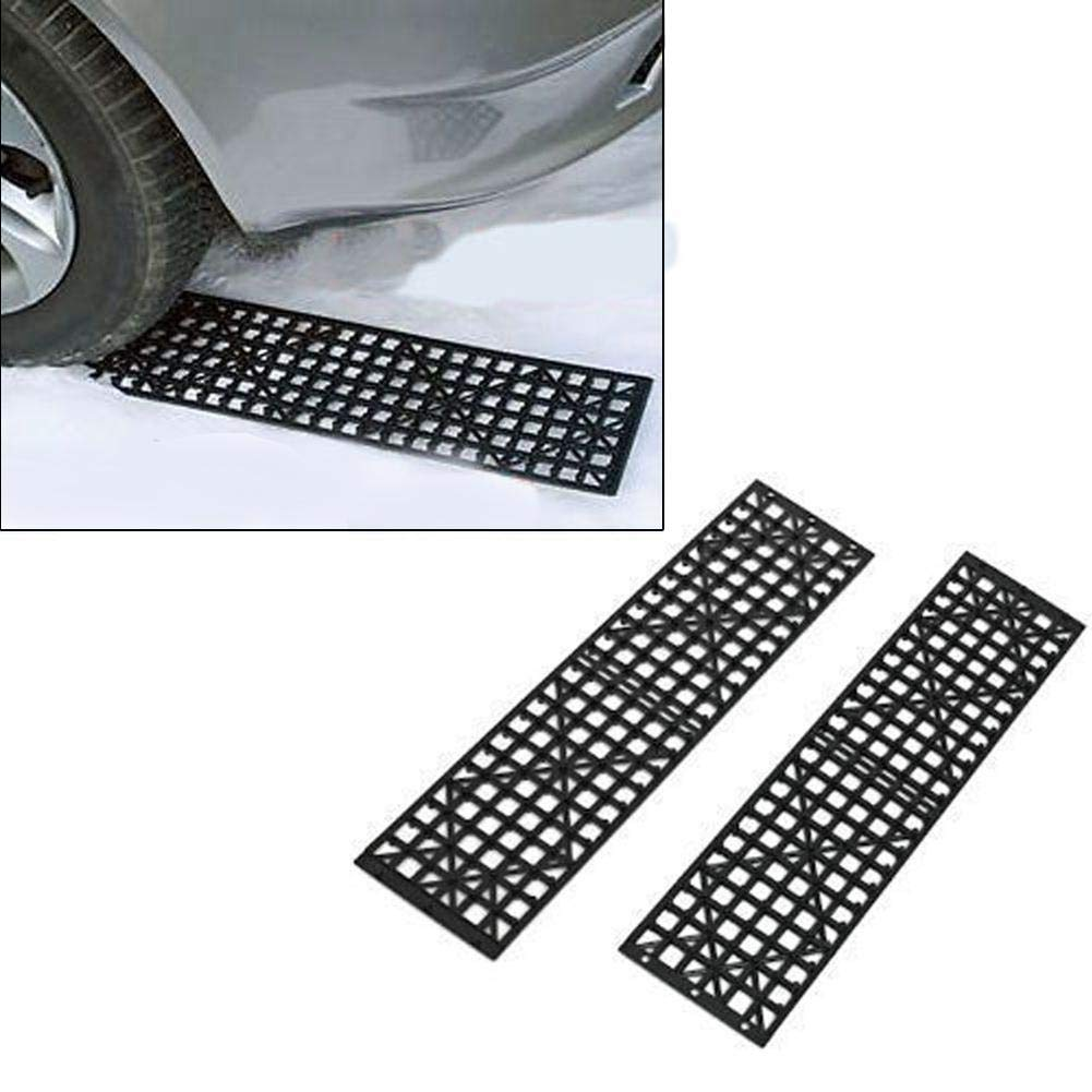 Hete-supply 2pcs Car Tire Traction Ma Emergency Traction Pad Auto Escaper Buddy Non-Slip Tire Grip Aid Track Trapped Recovery Board Off-Road Equipment