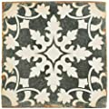 "SomerTile FPEARCZH Modele Ceramic Floor and Wall Tile, 4.875"" x 4.875"", Grey/Cream/White/Brown"