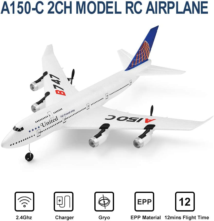 Easy to Fly for Beginners GoolRC WLtoys A150C-B747 RC Airplane 2.4 ...