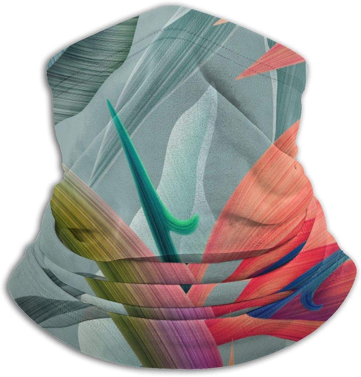 Towilliamsnya Face Scarf Neon Flowers Wallpaper Headband Scarf Balaclava